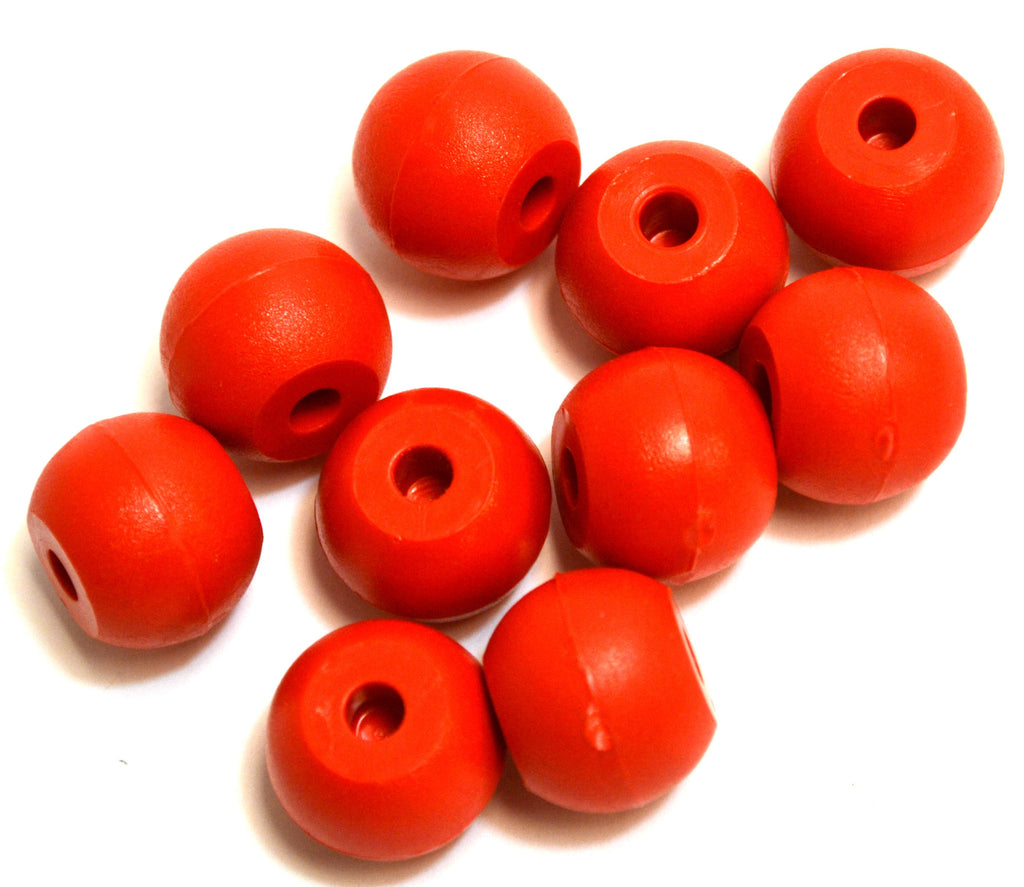 Eisco Labs Molecular Model Part; Red Ball; 2cm; 2 Holes at 180¡; Pk of 10
