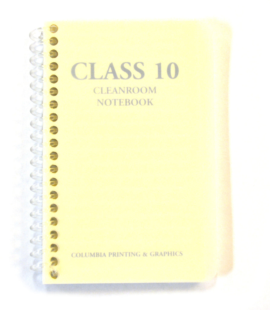 "Class 10 Cleanroom Notebook, 3"" x 5"", Spiral Bound, College Rule, 100 Pages"