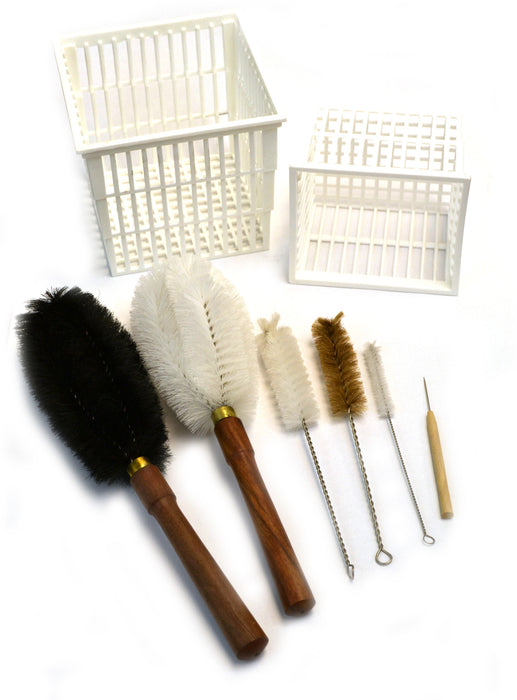 8 Piece Parts washer Cleaning Kit - Baskets and Brushes - hBARSCI