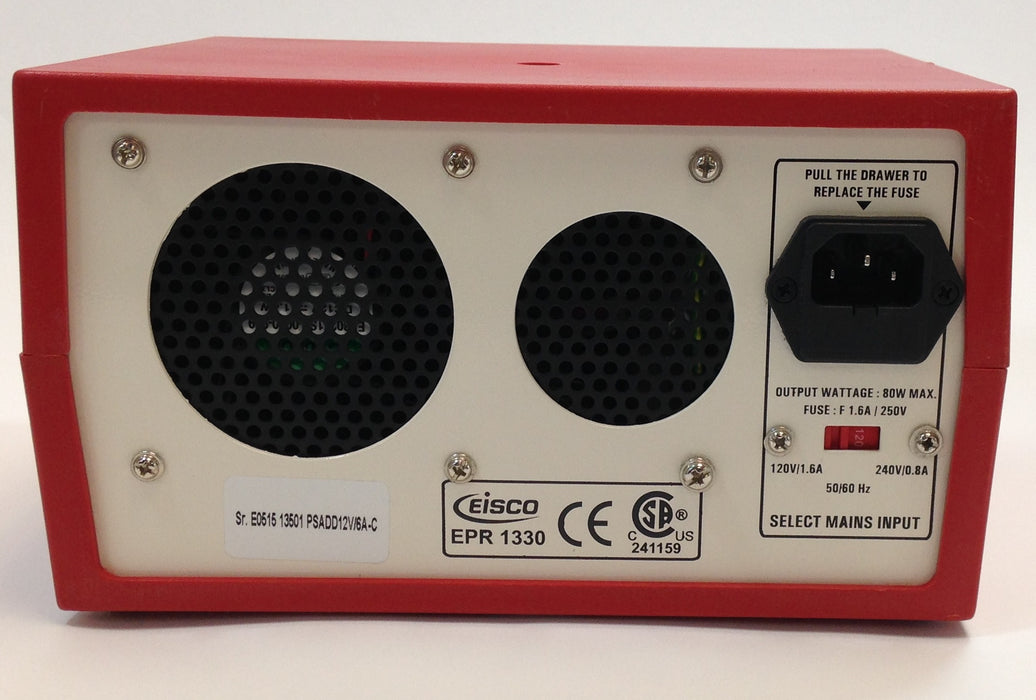 Eisco Labs Power Supplies Low Voltage AC/ DC 12V/6A