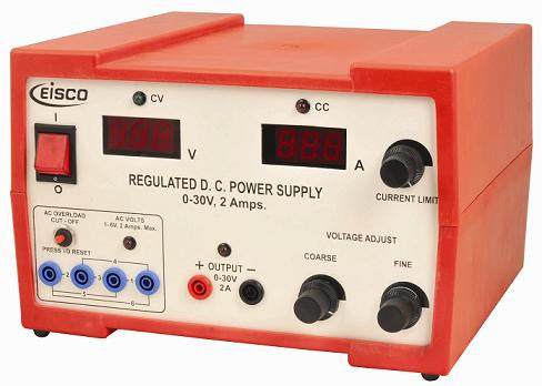 Power Supplies Regulated DC 0-30V / 2 Amp.