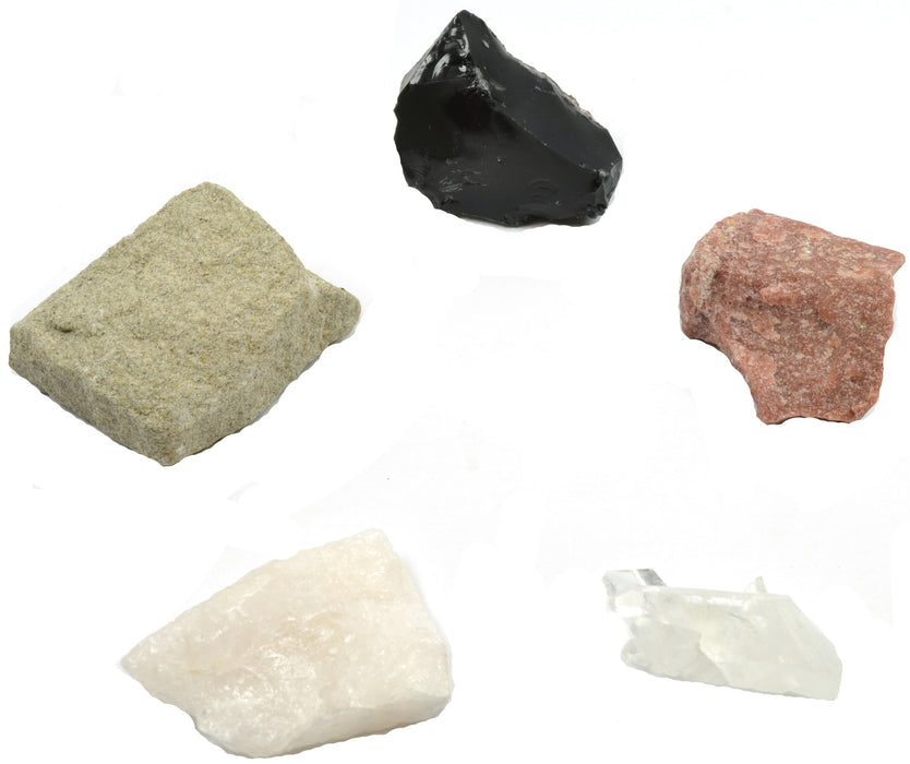Quartz Collection - Set of 5 Rock and Mineral Specimens