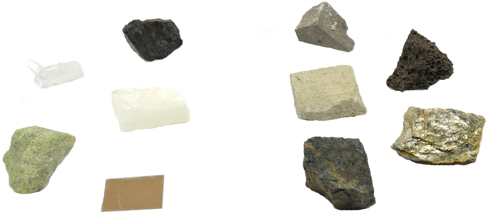 Rock/Mineral Matching Game - Set of 10 Rock and Mineral Specimens