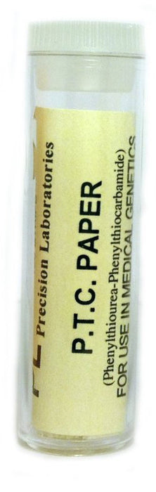 Eisco Labs Phenylthiourea (PTC) Paper Strips - Genetic Taste Testing (Vial of 100) - 30µg Per Strip