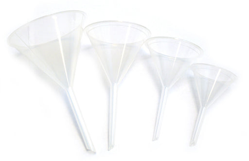 "4 piece Plastic Funnel Set - 2 1/4"" , 2 3/4"", 3 1/4"", 3 15/16"" - hBARSCI"