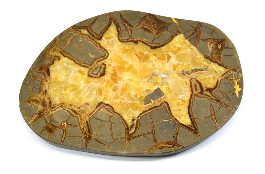 "8x6"" Septarian Calcite Plate, Polished"