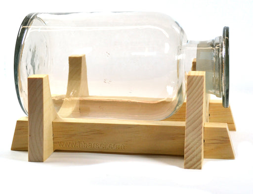 2000mL Laboratory Glass Terrarium with Wooden Stand Made in USA - Laboratory Reagent Bottle with Ground Glass Stopper - Open or closed terrarium
