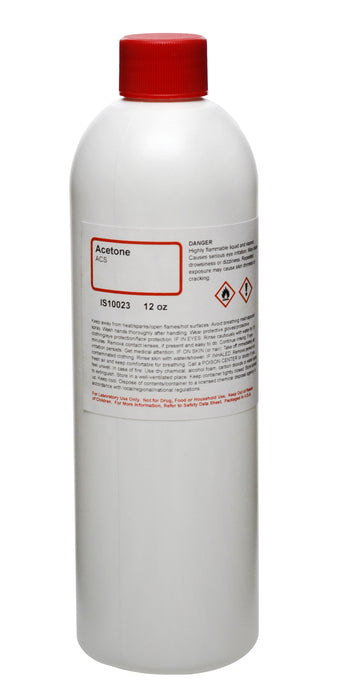 Acetone, 350mL - ACS-Grade - The Curated Chemical Collection