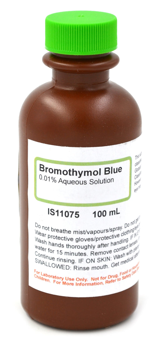 0.01% Aqueous Bromothymol Blue, 100mL - The Curated Chemical Collection