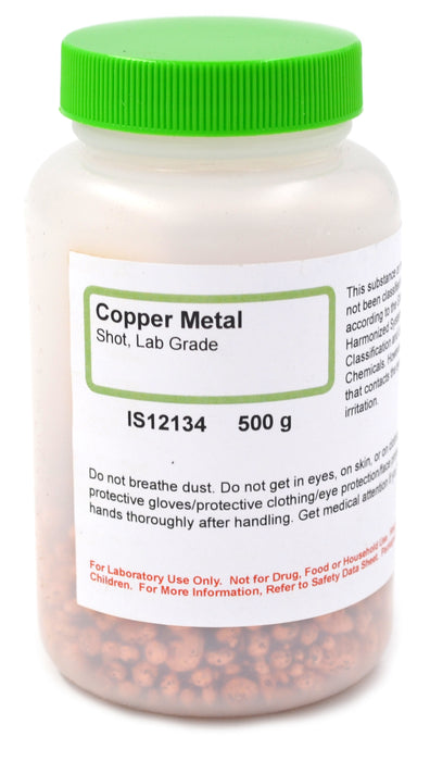 Lab-Grade Copper Metal Shot, 500g - The Curated Chemical Collection