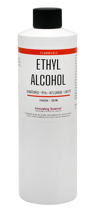 ACS Reagent Grade 95% Denatured Ethyl Alcohol, 500mL - The Curated Chemical Collection