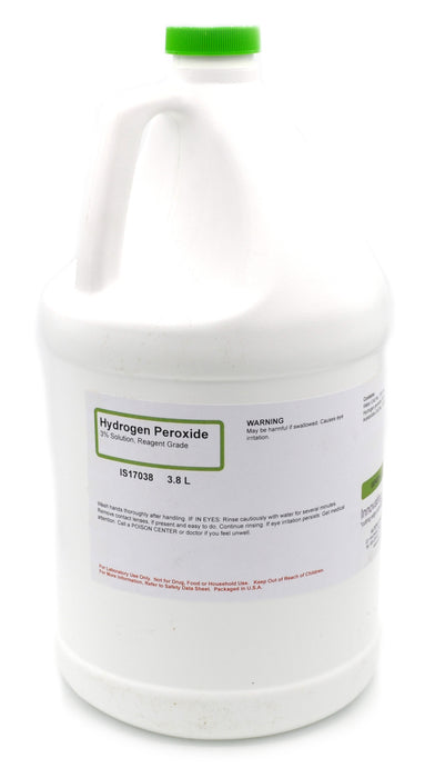3% Reagent-Grade Hydrogen Peroxide, 3.8L - The Curated Chemical Collection