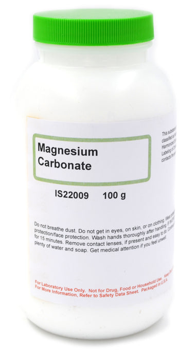 Light Magnesium Carbonate, 100g - The Curated Chemical Collection