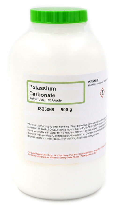 Lab-Grade Anhydrous Potassium Carbonate, 500g - The Curated Chemical Collection