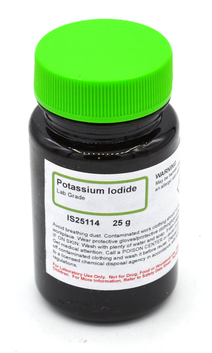 Laboratory-Grade Potassium Iodide, 25g - The Curated Chemical Collection