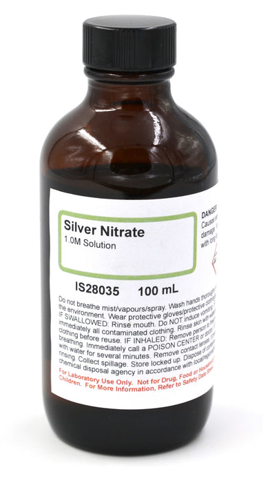 Silver Nitrate Solution, 1M, 100mL - The Curated Chemical Collection
