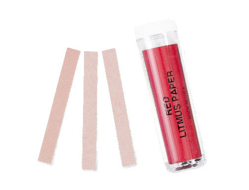 Red Litmus Paper, Vial of 100