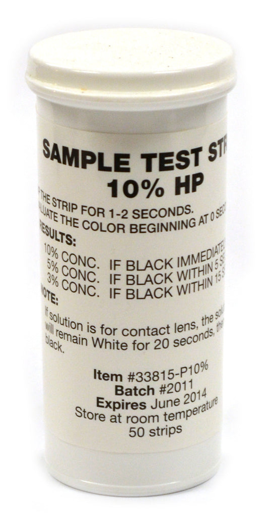 Eisco Labs Very High Level Peroxide Test Strips, Food Grade, up 10% Conc. (Vial of 50)