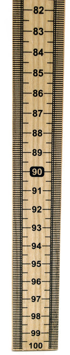 Meter Stick Single Sided Hardwood Metric Meter Stick with Vertical Reading and Zero Top - Eisco Labs