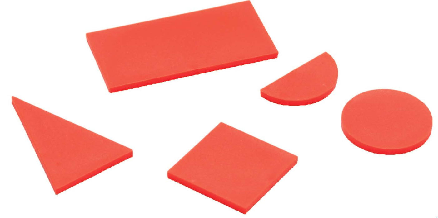 Geometrical Shapes - Two Dimensional, Plastic, Set of 10 pcs