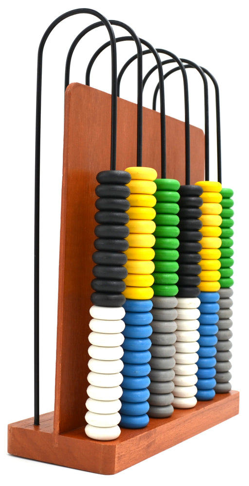Abacus, consists of a wooden frame with 6-U shaped steel wires - hBARSCI