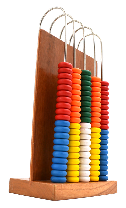 Abacus, consists of a wooden frame with 5-U shaped steel wires - hBARSCI