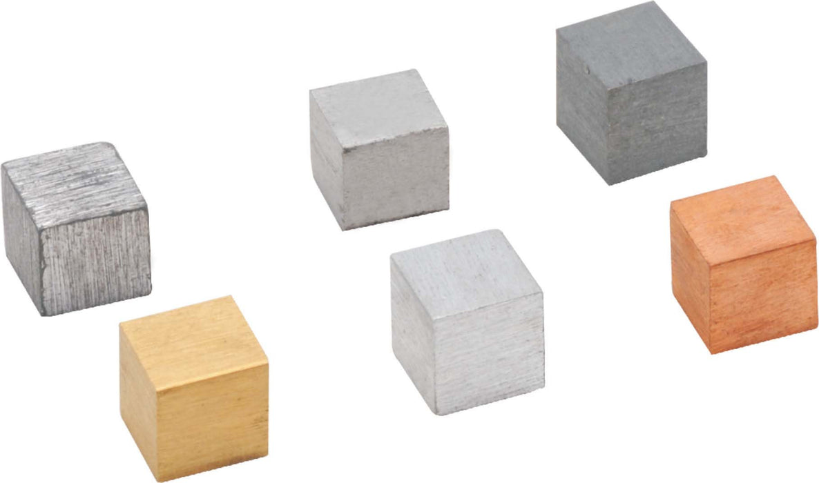 Cubes For Density Investigation, Zinc