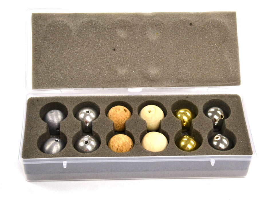 Eisco Labs Drilled Ball Set in Plastic Case