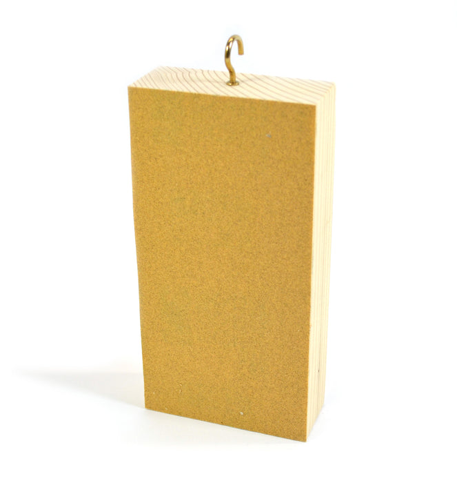 "Wooden Friction Block, Wood and Sandpaper - Measures 6 x 3 x 1.25"" (Made in the USA)"