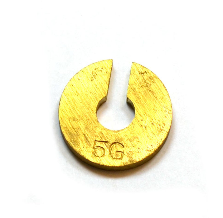 Individual Slotted Weights - Brass, 5gm