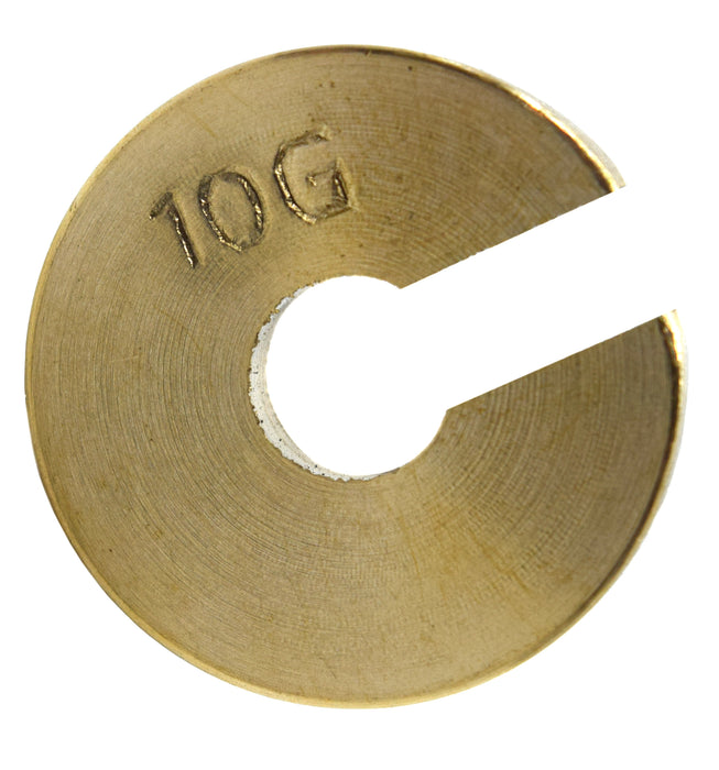 Individual Slotted Weights - Brass, 10gm