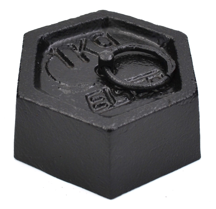 Masses - Iron, Hexagonal with lifting ring, 1000g