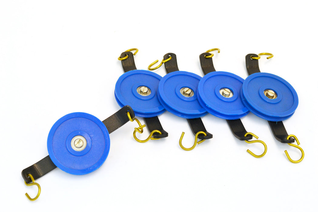 Set of 5 Plastic Pulleys, Single, 50 mm Diameter, Low Friction