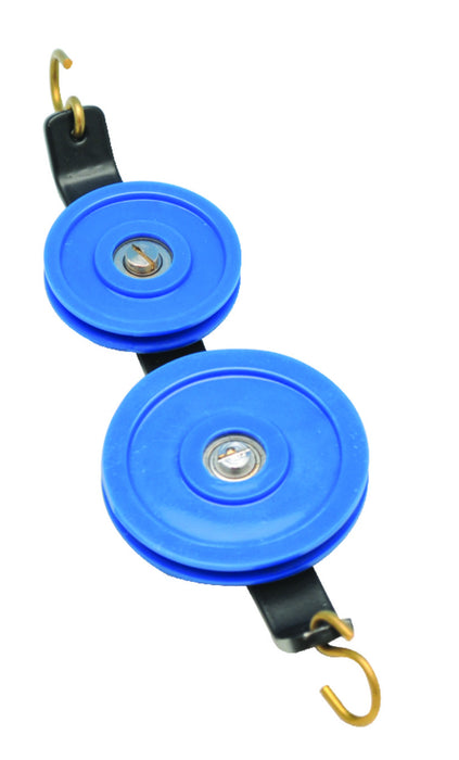 Double Plastic Pulley, In Tandem - 30mm & 50mm Pulley Diameters