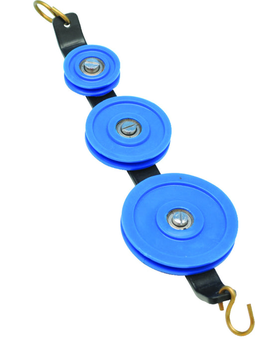 Eisco Labs Plastic Pulley, Low Friction, Triple in Tandem, 25, 38, 50mm dia.