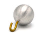 Aluminum Pendulum Bob with Hook, 1in Diameter