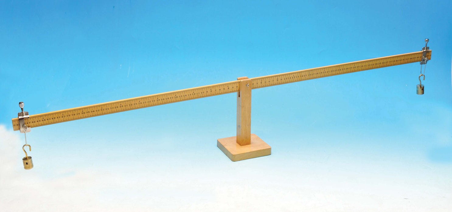 Wooden Lever, supplied with 2 sets of 100g weights