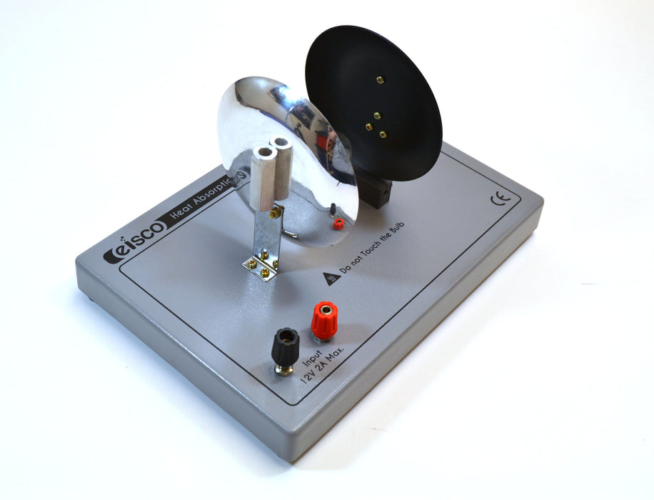 Eisco Labs Heat Absorption Radiation Comparator with Comparator apparatus, White screen, and Experiment Guide