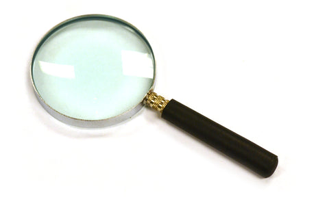 "Eisco Labs Magnifying (Reading) Glass, Lab Quality, 2.5"" diameter, 5.87""cm Focal Length, 2.25X Magnification"