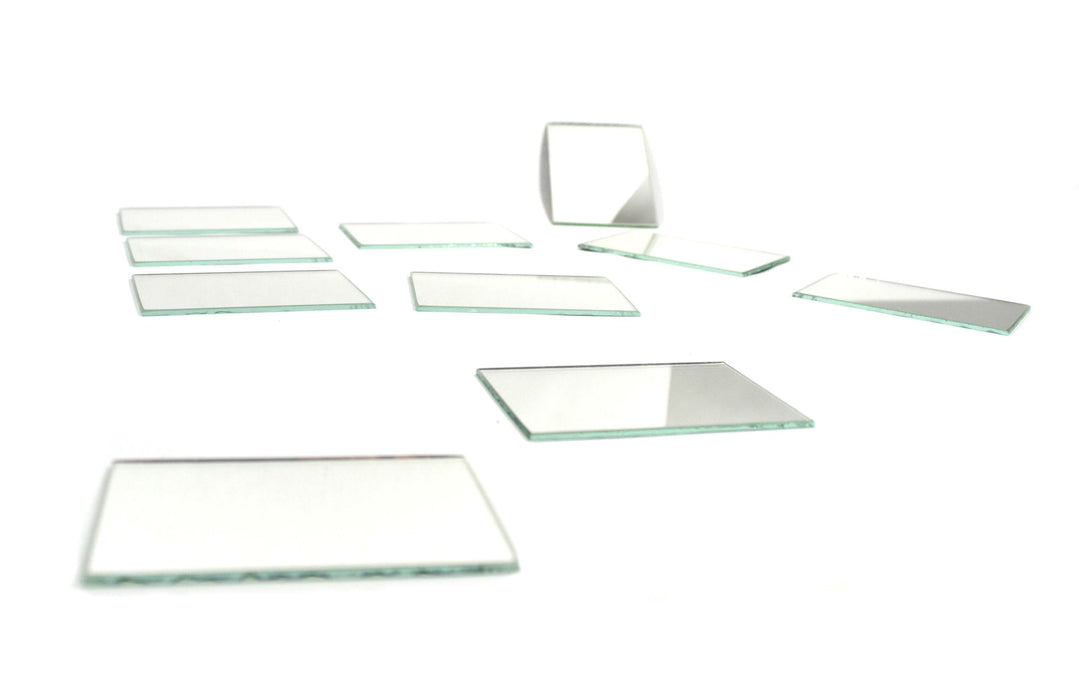 Plane Mirrors Glass - Unmounted, 75 x 50 mm Pack of 10
