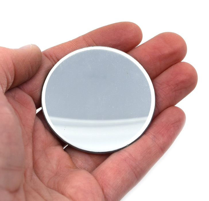"Concave Optical Mirror - Glass, 2"" (50mm) dia., 75mm Focal Length - Eisco Labs"