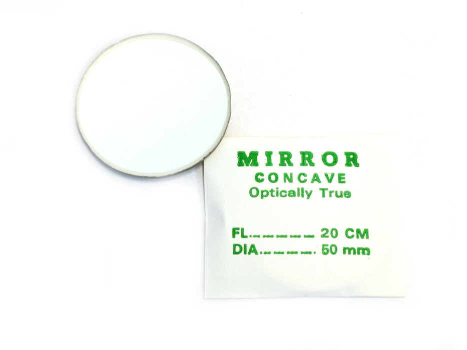 Eisco Labs Concave Mirror - Glass, dia 50mm, Focal length 200mm