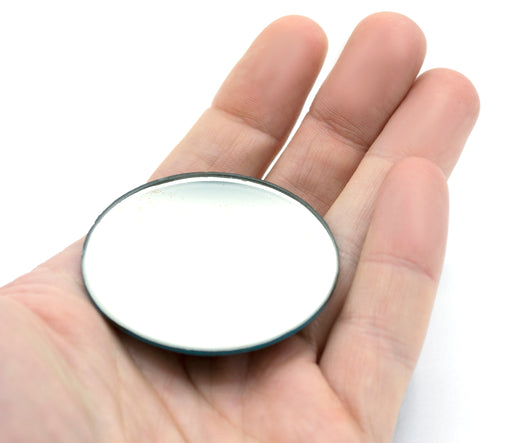 "Round Concave Glass Mirror  - 2"" (50mm) Diameter -  750mm Focal Length - 1.5mm Thick Approx. - Eisco Labs"