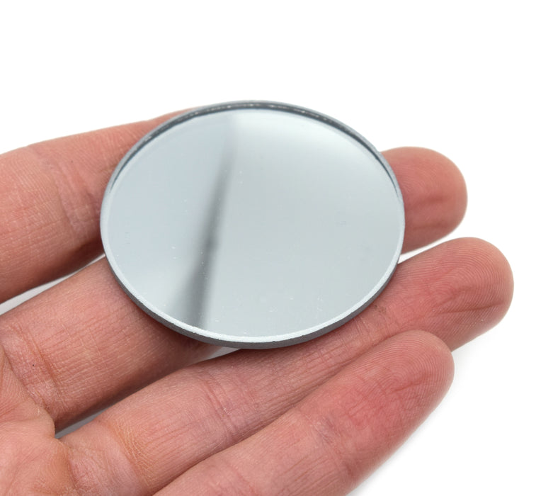 "Convex Optical Mirror - Glass, 1.5"" (38mm) dia. 200mm Focal Length - Eisco Labs"
