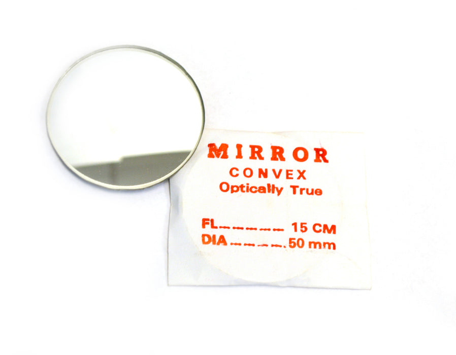 Eisco Labs Convex Mirror - Glass, dia 50mm, Focal length 150mm