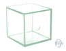 "Hollow Glass Cube, with Stopper, Size 2x2x2"" (50x50x50mm) - Great for Studying Snells Law of Refraction - Eisco Labs"