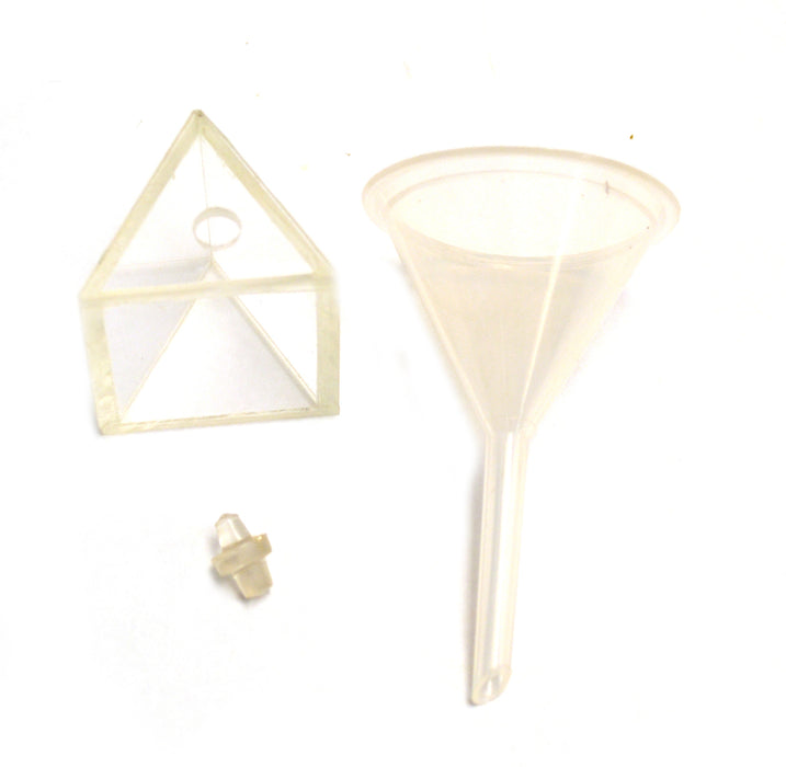 Eisco Labs Hollow Equilateral Acrylic Prism 45mm