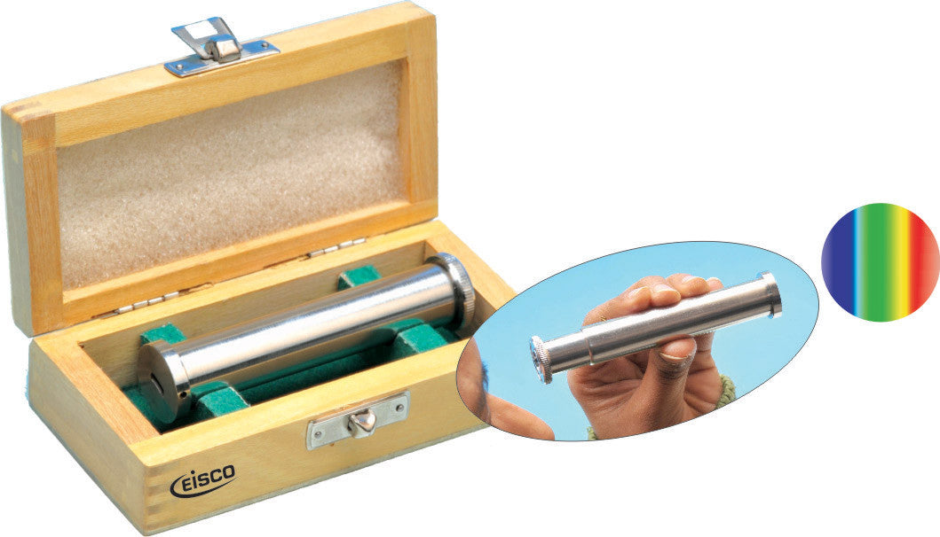 Advanced Direct Vision Spectroscope in Wood Case - hBARSCI