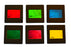 "Eisco Labs RBG/CMY Mounted Color Filters, 2""x2"" (50x50mm) - Red, Blue, Green, Cyan, Magenta, and Yellow"