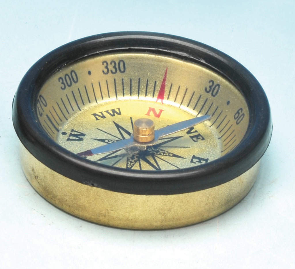 Eisco Labs Small Pocket Compass - Brass - 45mm diameter - Model PH0823B